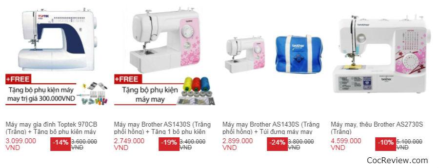Nên mua máy may gia đình loại nào tốt giữa Brother, Singer, Juki, Riccar và Toptek?