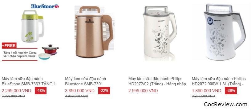 Đánh giá máy làm sữa đậu nành loại nào tốt giữa Bluestone, Philips và Supor?