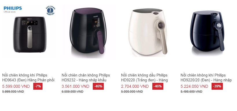 Nồi chiên không dầu Philips loại nào tốt?