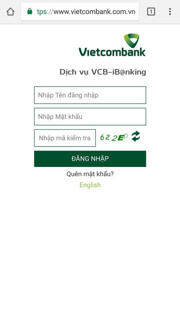 Kết nối ngân hàng với Ví Momo