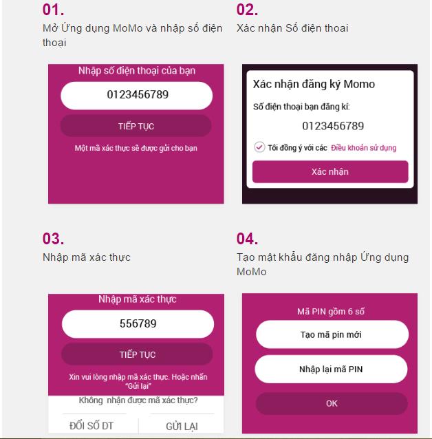 Tạo mã PIN để đăng nhập ứng dụng Momo