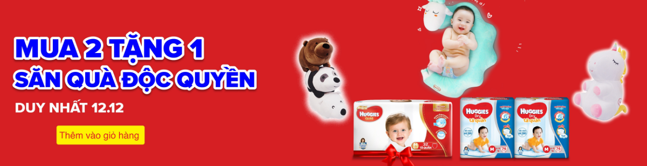 Sale tả Huggies 12.12